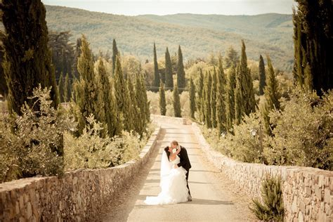 Beautiful Outdoor Destination Wedding in Tuscany, Italy