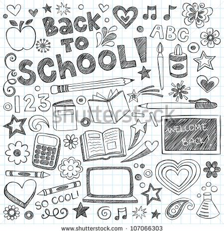 doodle academy drawings back to school stock photos images pictures