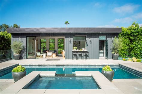 Pool Home by How To Design A Show Stopping Pool House Sunset Magazine