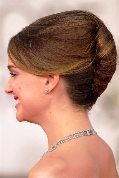 most popular sleek classic french twist with side bangs 30 most popular bun hairstyles with images styles at life