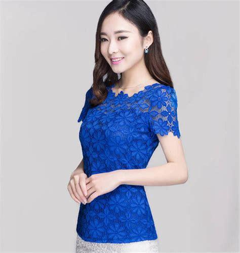 Korea Top Longsleeve Renda Blackk Wgset0161 m xxxxxxl blusas plus size sleeved casual lace