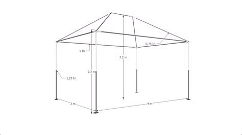 Tenda Cafe 3 X 3 tenda gazebo 4x3