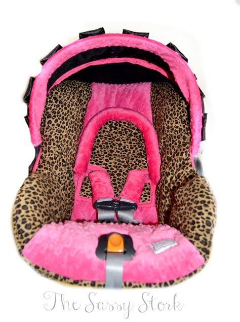 cheetah print infant car seat cheetah and pink infant car seat cover with headrest