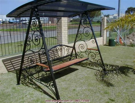 wrought iron garden swing swings forged art unique pattern for garden
