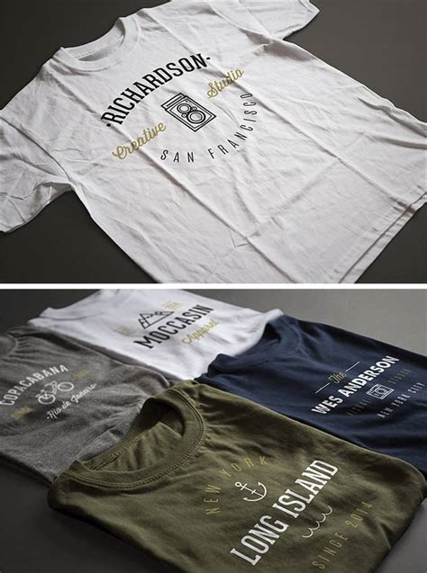 Printed Mock Two Shirt 28 of the best t shirt mockup psd templates for designers