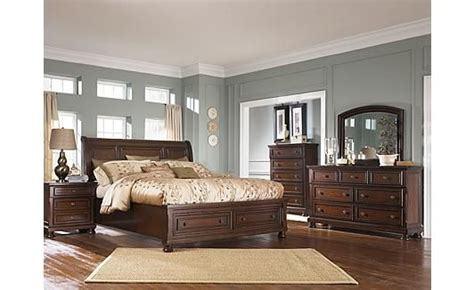 porter sleigh bedroom set porter sleigh bedroom set ashley furniture home