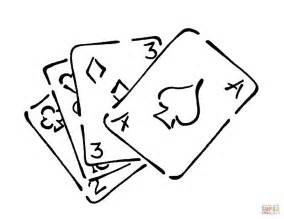 awesome playing cards with kite coloring page
