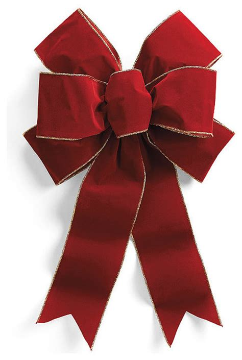 set of two pre made red outdoor christmas bows 12