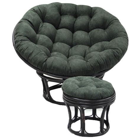 microsuede tufted papasan cushion dcg stores