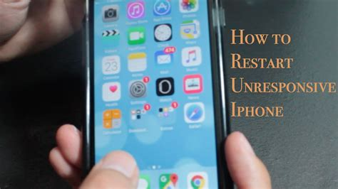 how to restart a frozen screen iphone