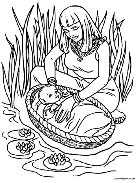 coloring pages of baby moses and miriam baby moses coloring pages timeless miracle com