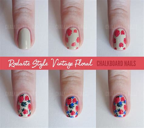 15 easy to follow flower nail tutorials be modish