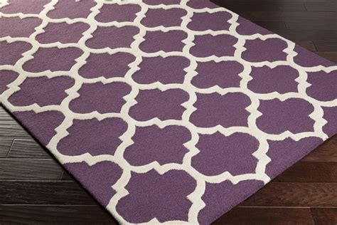 Purple And White Area Rugs Artistic Weavers Pollack Stella Awah2031 Purple White Area Rug