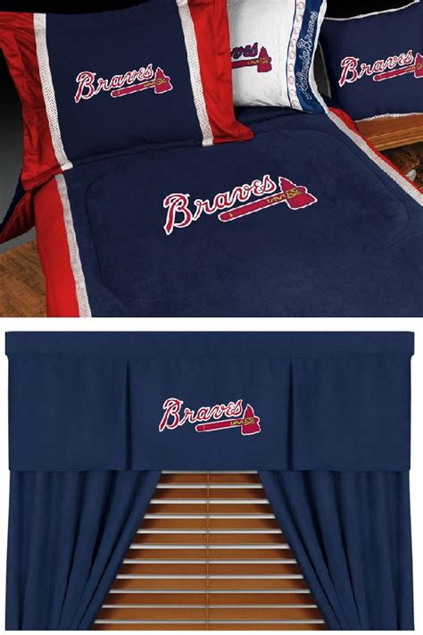 atlanta braves comforter mlb atlanta braves mvp baseball bedding set