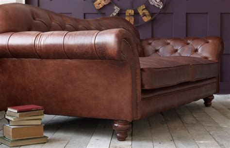 Moderne Ledersofa 737 by Arundel Vintage Leather Sofa Chesterfield Company