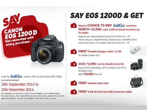 canon offers canon offers wide range of offers on eos 1200d dslr worth