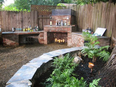 diy brick outdoor fireplace inspiration for a pebble patio and pit made