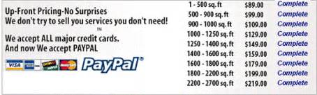pacific carpet cleaning price list lake forest ca