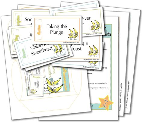 printable bridal shower charades bridal shower charades bridal shower games bridal