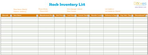 inventory checklist template excel inventory list template stock dotxes