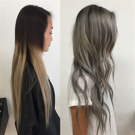 what to use for dry overcolored hair transformation old ombre to steely silver career