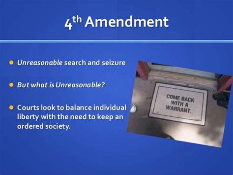 Court Unreasonable Search And Seizure 4th Amendment