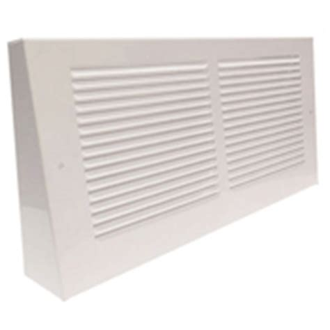 Baseboard Return Air Grille White Vent Cover