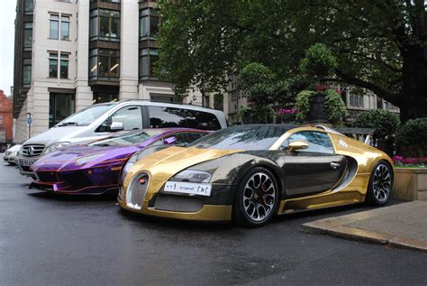 bugatti gold and chrome gold bugatti veyron and lamborghini avenatdor