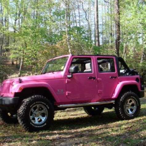 pink jeep pink jeep cars and such
