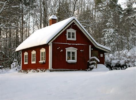 swedish home winter in sweden cabin winter and woods