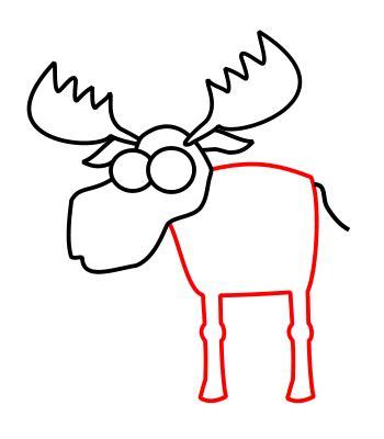 drer basic art series drawing a cartoon moose