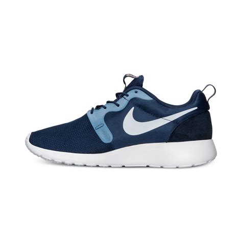 nike mens roshe run hyperfuse casual sneakers from finish