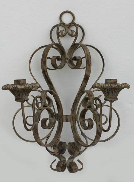 Wrought Iron Candle Sconce by Wrought Iron Candle Wall Sconce Wrought Iron