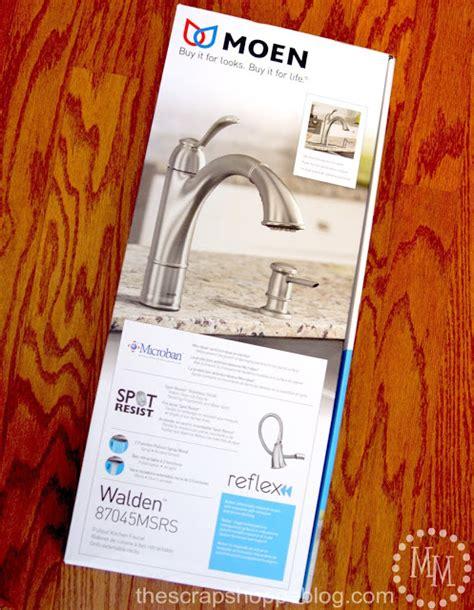 Moen Walden Kitchen Faucet by Moen S Walden Faucet Review The Scrap Shoppe