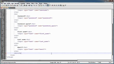 php tutorial login and register php tutorials register login part 10 registration