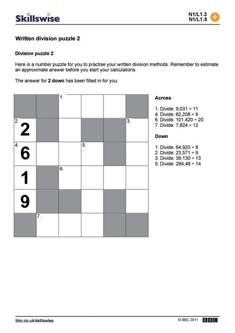 printable division puzzle division puzzle worksheets free worksheets library