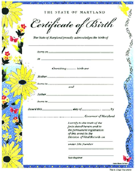commemorative certificate template birthcert