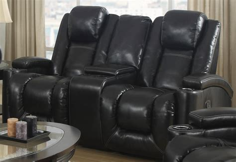 rocker reclining loveseat matrix black power rocker reclining console loveseat 1488