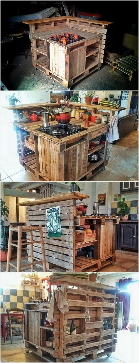 creative ways to recycle wood pallets into useful things pallet kitchen island kitchen island