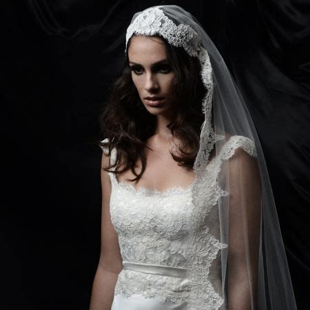 hairstyles with mantilla veil mantilla veil or hijab overlays this classic scalloped