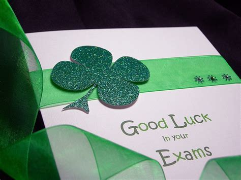 Handmade Luck Cards - lucky clover luck handmade card
