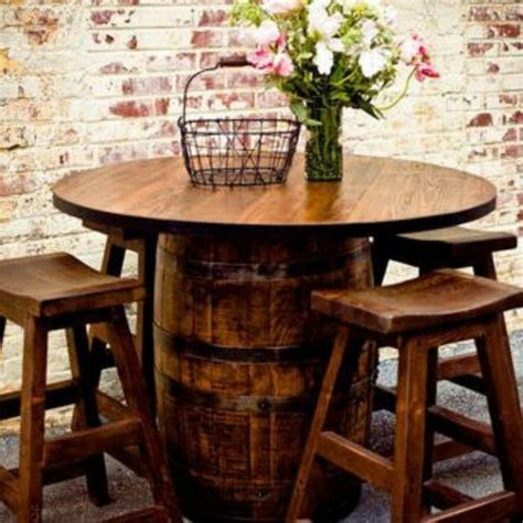 barrel bar table diy creatively re purposed wine barrels that you ll