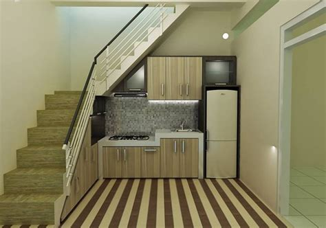 desain dapur minimalis bawah tangga aneka desain kitchen set minimalis bawah tangga