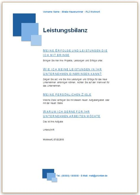 Anschreiben Vorlage Blau Gratis Bewerbung Leistungsbilanz Dritte Seite Vorlage Muster Beispiele Kostenlos Downloaden