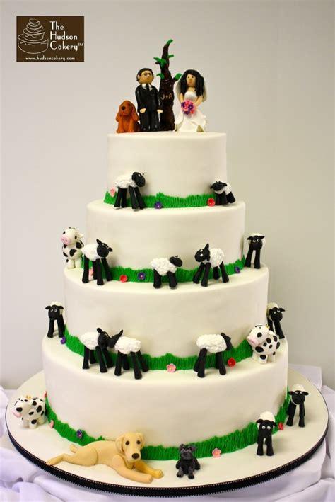 farm wedding cake the hudson cakery