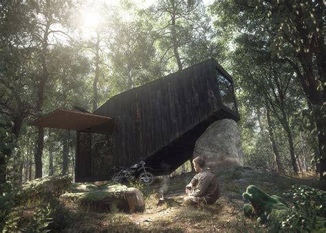 forest render house forest retreat uhlik architekti blog 3d