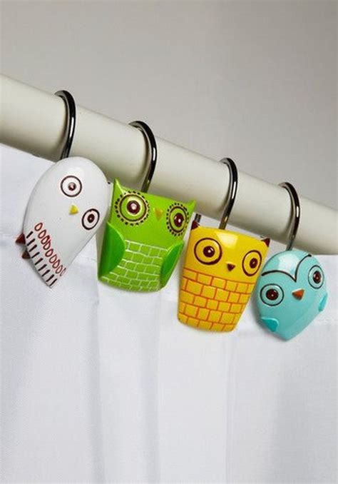 owl shower curtain hooks owl shower curtain rings