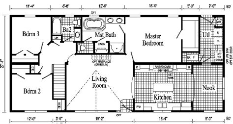 ranch style homes floor plans hanover ranch style modular home pennwest homes model s hr107 a hr107 1a custom built by