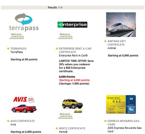 Enterprise Rental Gift Card - credit card car rental rewards