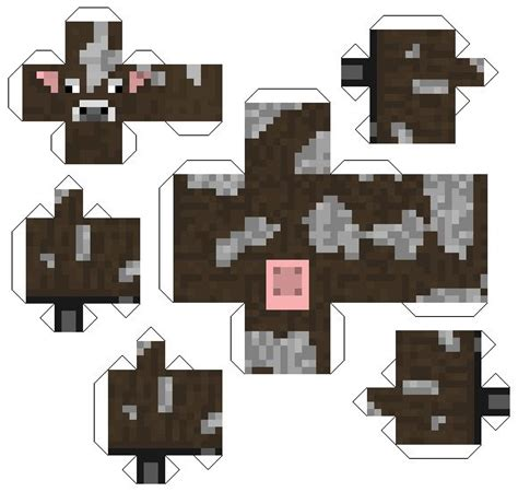 Papercraft Characters - fpsx minecraft mob printable cut out characters